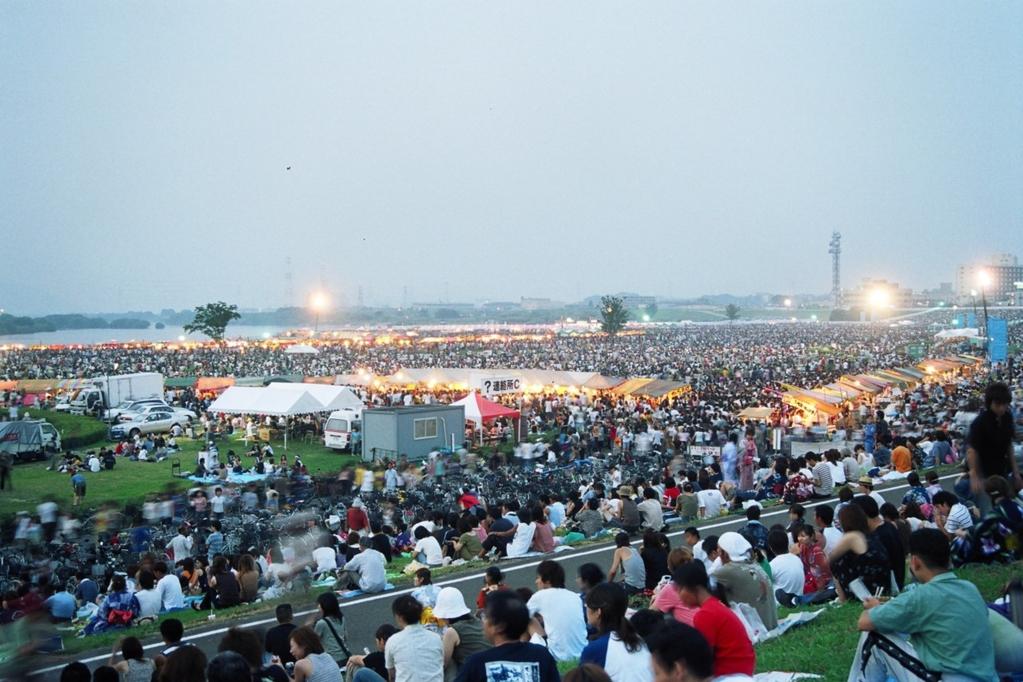 2003年の花火大会の様子